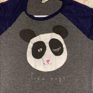 Free Hugs Panda Cartoon T-Shirt
